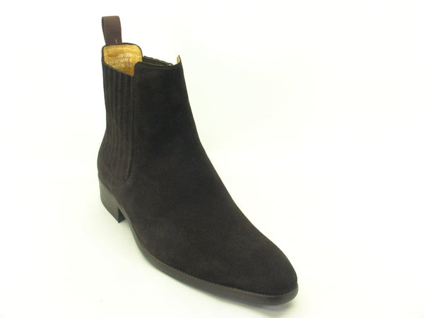 Leather Suede Chelsea Boots