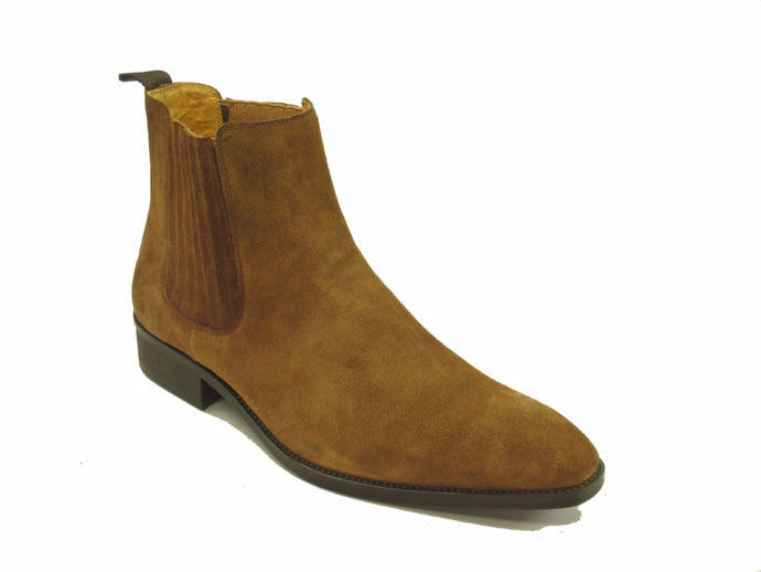 KB503-01S Leather Suede Chelsea Boots