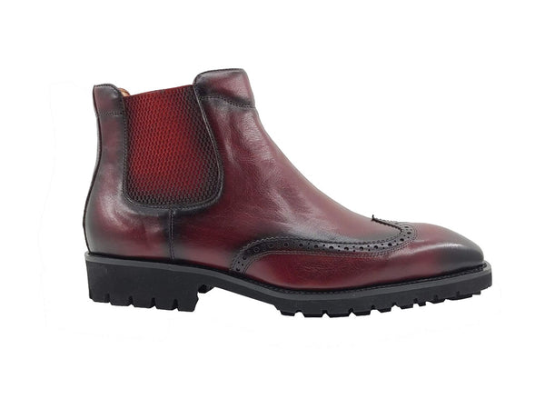 Chelsea Boot with Wingtip, lightweight lug sole in Patina finishing KB515-13