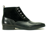 KB524-12 Calfskin Button Up Slip-On Boot