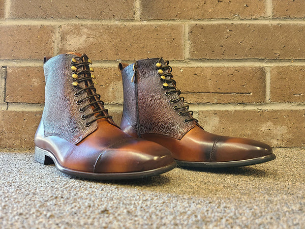 KB524-15 Brogue Cap-toe boot