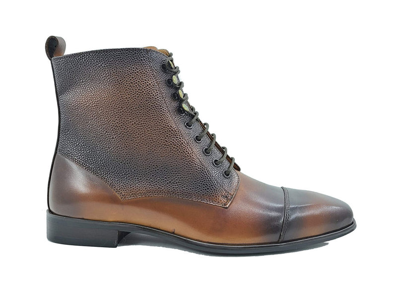 Brogue Cap-toe boot