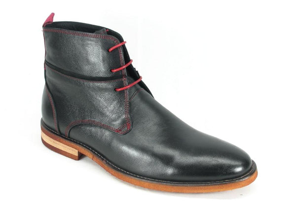 KB735-11N Carrucci Red Stitches Leather Boots