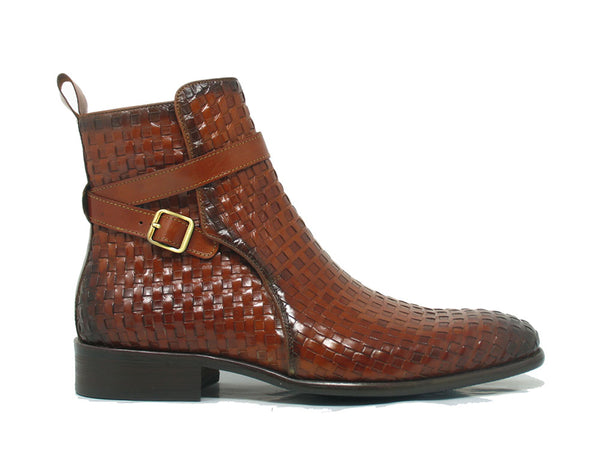 Carrucci Basket Weave Buckle Boots