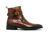 KB886-17 Buckle Leather Strap Boots