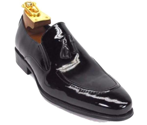 KS099-714 Leather Tassel Loafer-Patent Leather