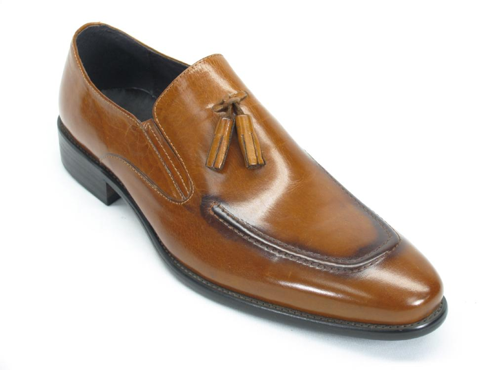 KS099-714 Leather Tassel Loafer-Cognac