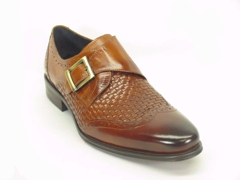 KS099-722 Woven Buckle Loafer-Brown/Navy