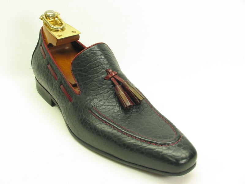 Contrast Tassel Loafer-Navy/Red