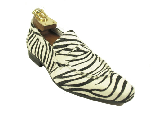 KS1377-06H Pony Loafer-Zebra