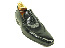 KS1377-06P Patent Leather Loafer-Navy