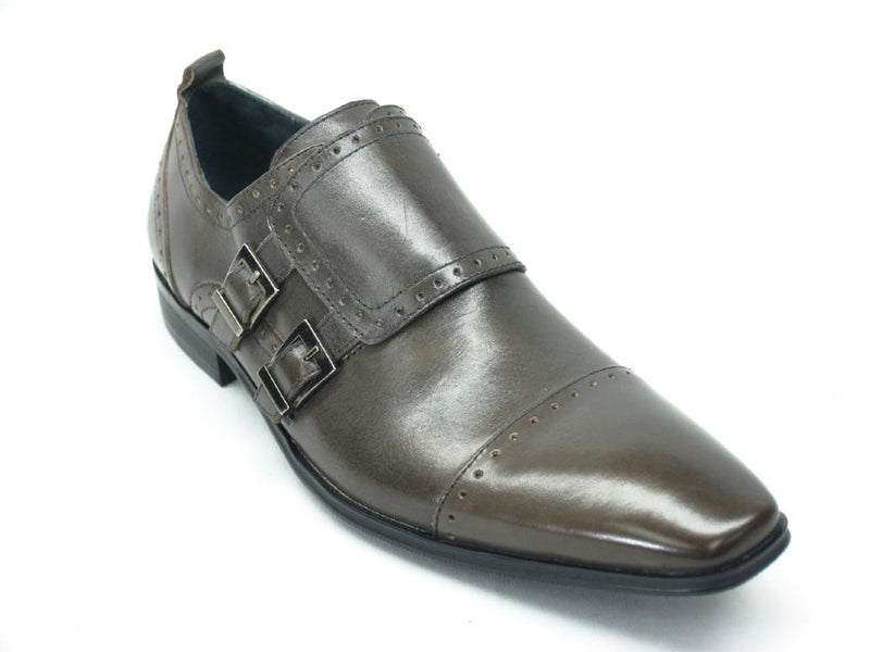 Carrucci Double Buckles Leather Loafer