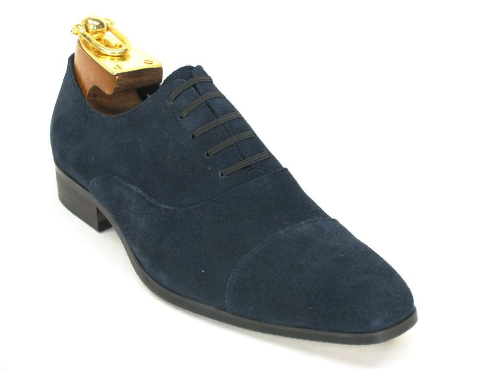 KS2240-01S Carrucci Leather Suede Slip on - Blue