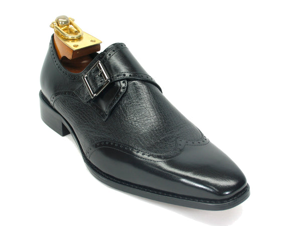 Carrucci Deer Skin Monk Strap Slip-on