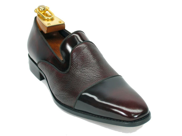 KS2240-05 Deerskin Leather Loafer-Burgundy