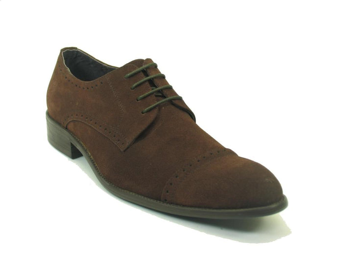 KS258-27S Carrucci Cap Toe Suede Lace-up Oxford
