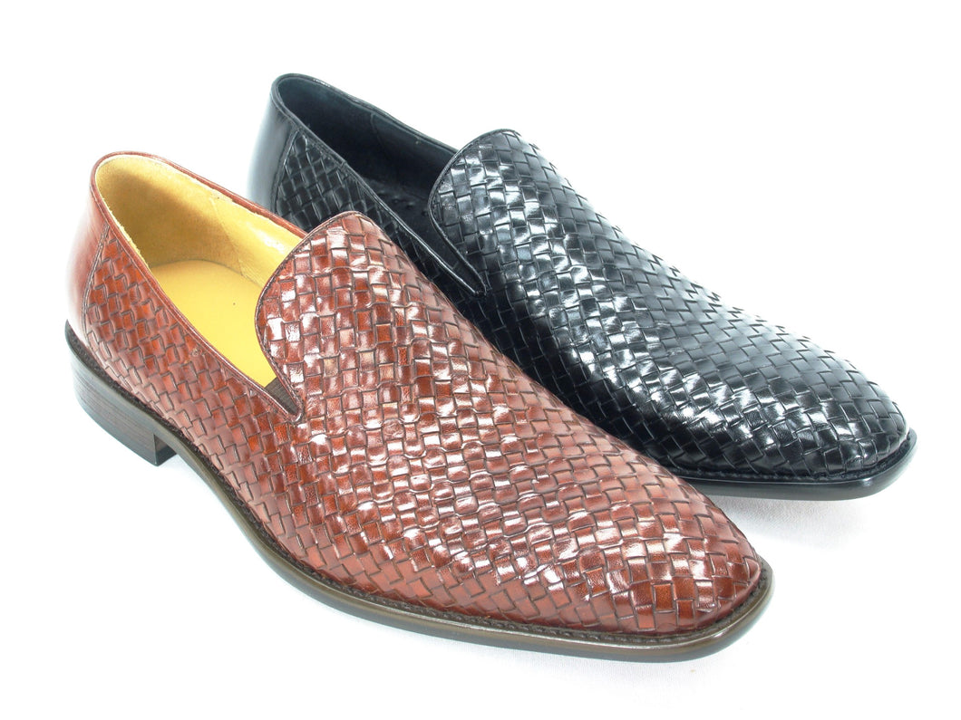 KS259-11 Carrucci Woven Leather Loafer