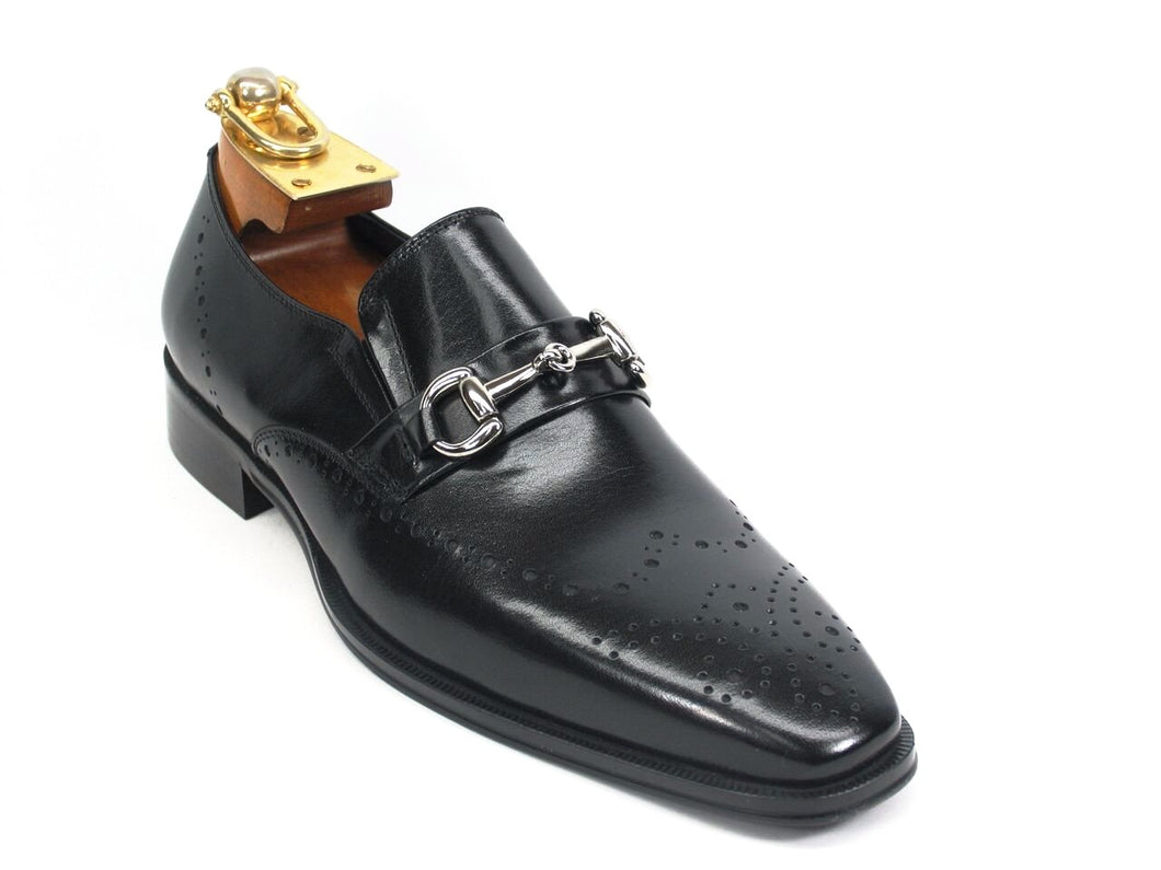 KS261-04 Wholecut Two Tone Buckle Loafer-Black