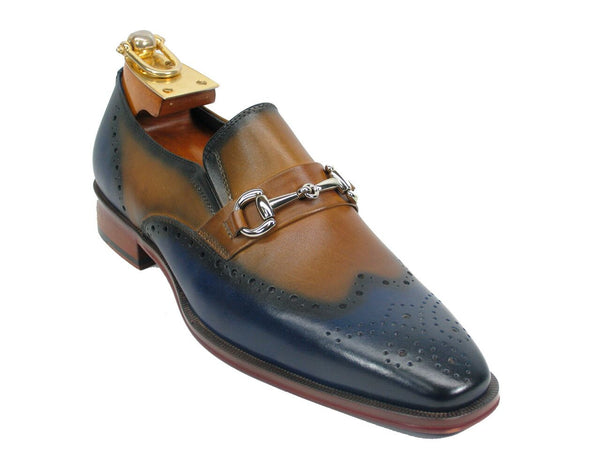 KS261-04 Wholecut Two Tone Buckle Loafer