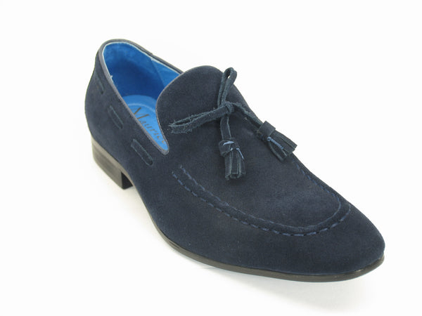 KS308-02S Suede Tassel Loafer