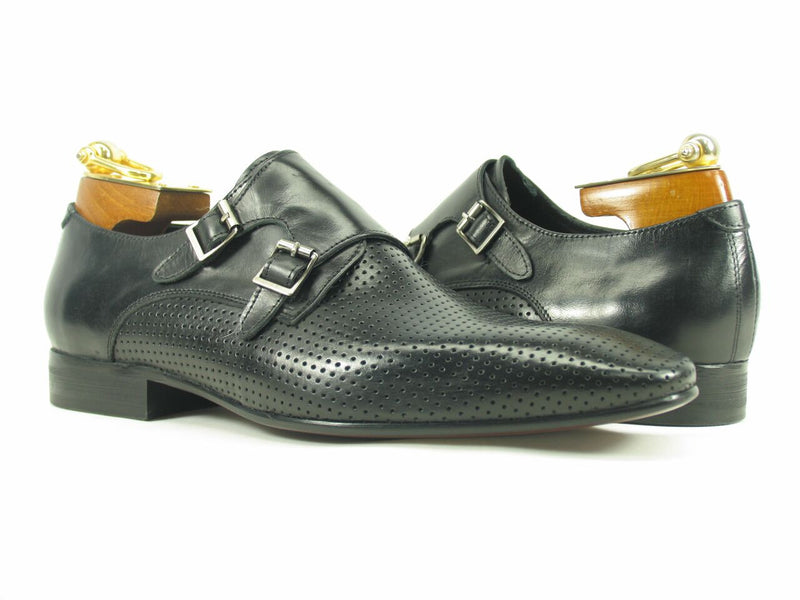 KS308-06 Perforated Double Monk Strap Loafer