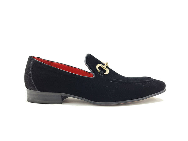 KS308-101V Velvet Buckle Loafer