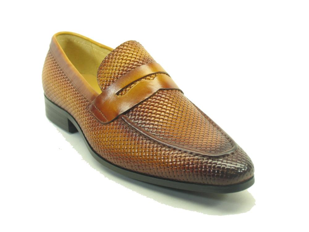KS478-110E Carrucci Burnished Woven Penny Loafer