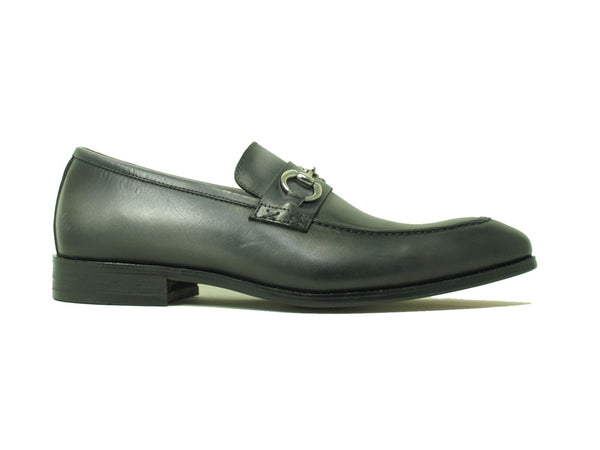 Carrucci Calfskin Buckle Loafer Patina Finish