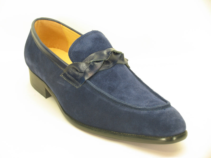 Suede Loafer W/Leather Trim