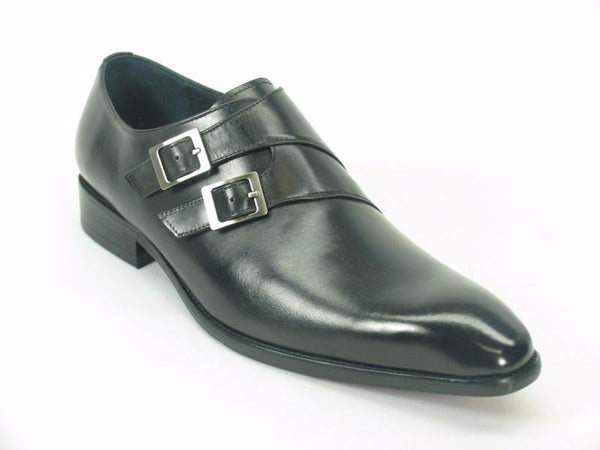 Carrucci Double Monk Strap Loafer - Navy