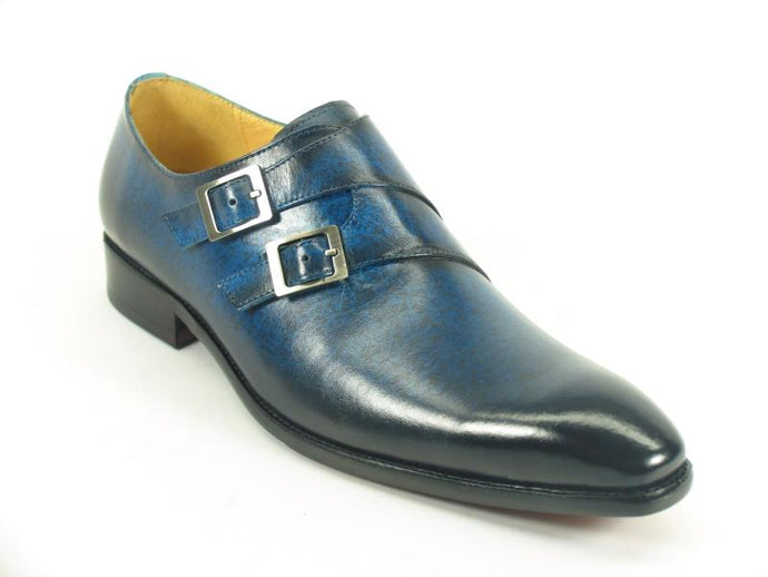 KS503-37 Carrucci Double Monk Strap Loafer-Navy