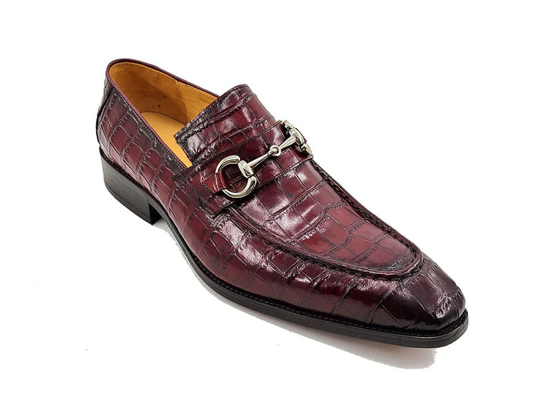 KS503-61E Buckle Loafer With Gator Print Embossed Leather