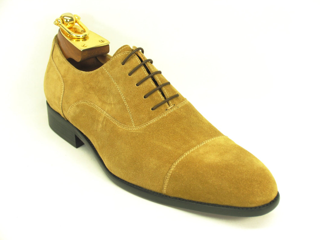 KS505-11S, Suede Lace-up Oxford-Wheat