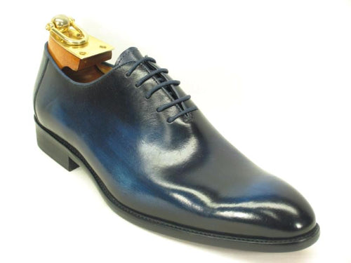 KS505-12 Calfskin Lace-up Oxford Cobalt