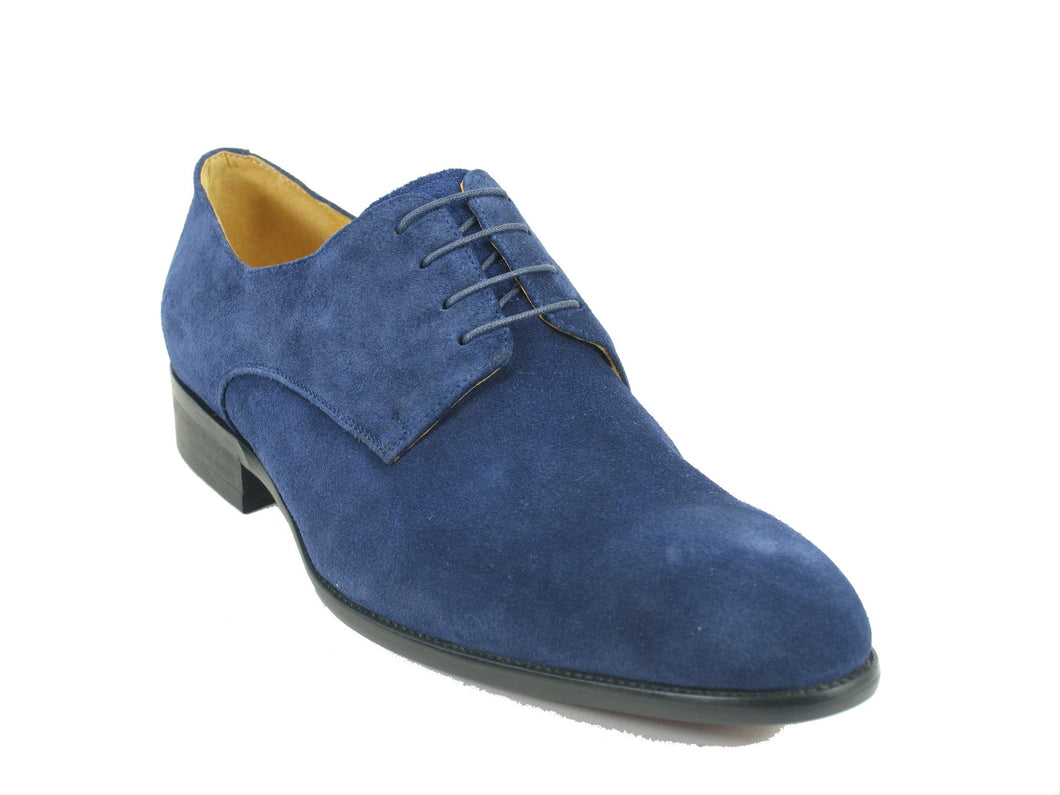 KS505-14S Suede Lace-up Oxford-Navy