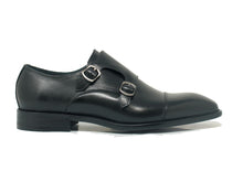 KS509-23 Double Monk Straps Leather Shoes