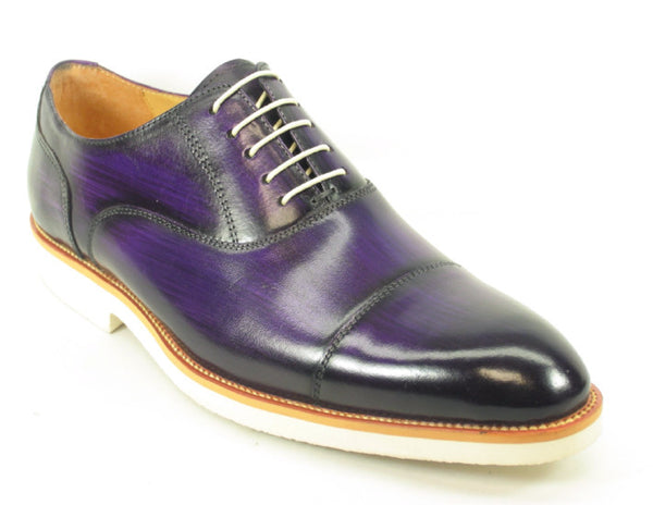 KS511-11, White Bottom Edge Oxford-Cobalt