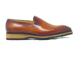 Burnished Whole Cut Leather Loafer