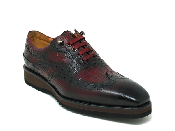 Embossed Leather Patina Oxford