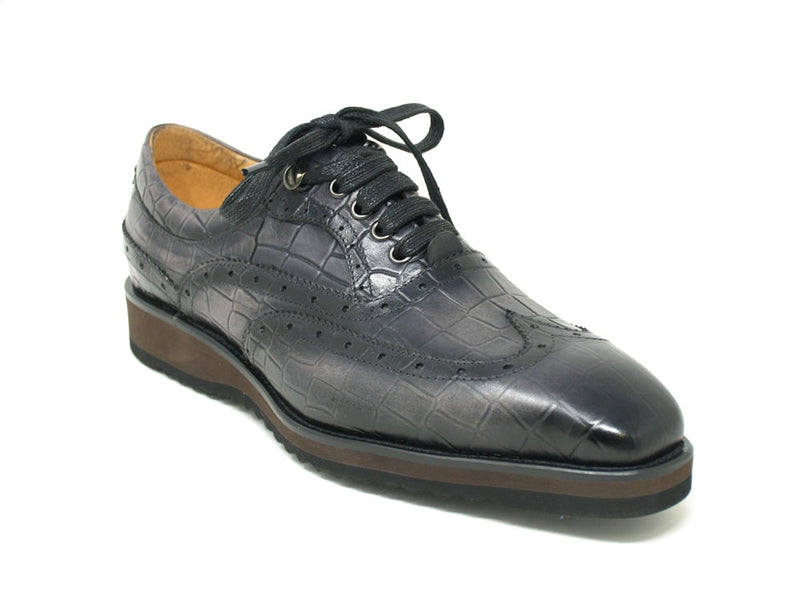 KS515-05 Embossed Leather Patina Oxford