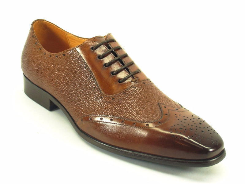 Caviar Leather Oxford-Whisky