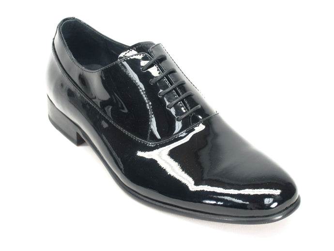 KS525-01P, Patent Leather Lace-up Oxford