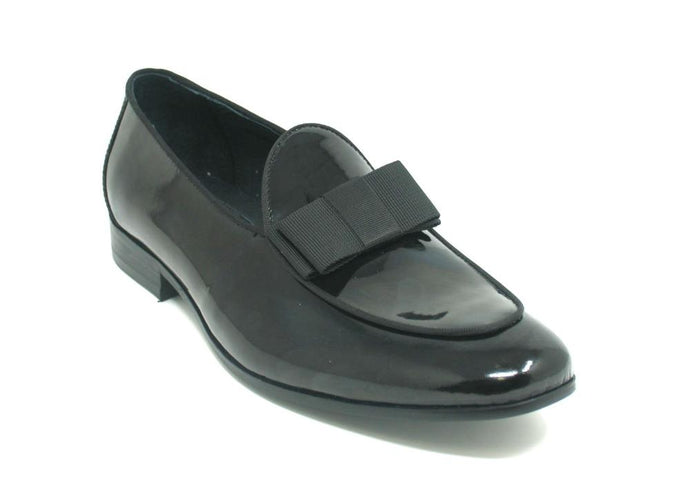 KS525-102P Carrucci Patent Leather Bow Tie Dress Shoes