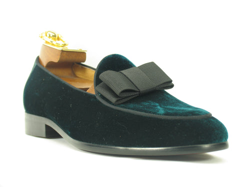 KS525-102V, Carrucci Velvet Prom Loafer-Emerald