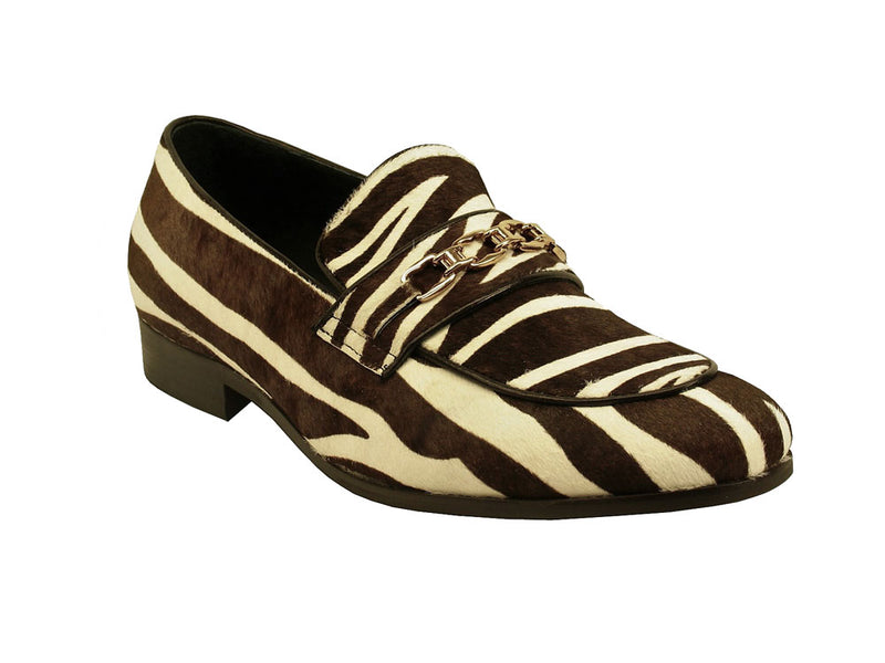 Carrucci Animal Print Buckle Loafer