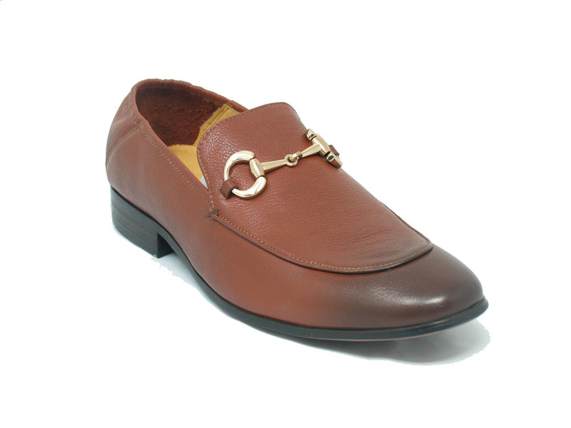 KS525-305 Soft Leather Casual Buckle Loafer/Mule