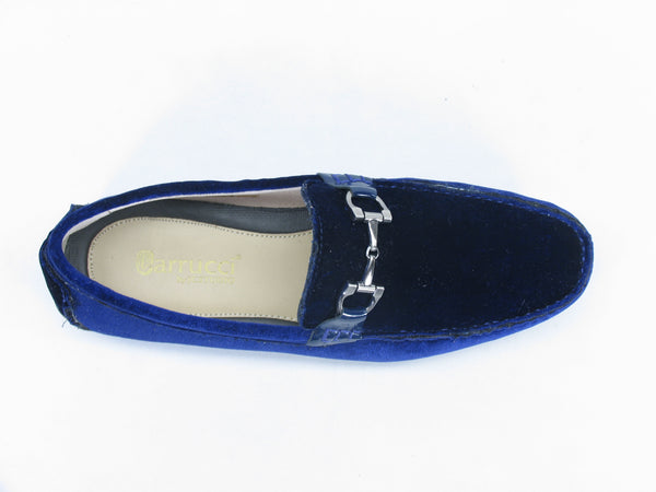 KS625-101V Velvet Buckle Loafer-Navy