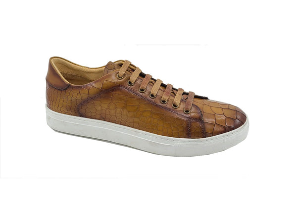 Embossed Alligator Calfskin Sneaker