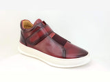 KS671-01 Mid Top Leather Sneaker