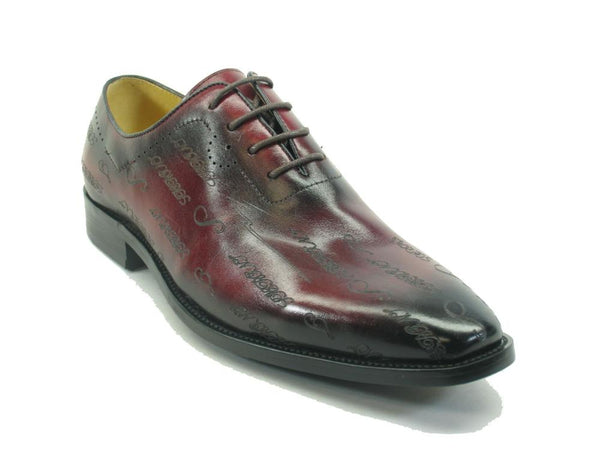 KS709-01 Carrucci Embossed Leather Oxford